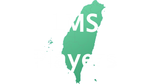 LMS players button white